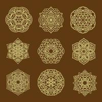 conjunto de mandalas geométricas vetor