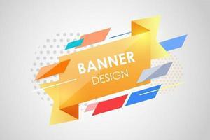 fundo geométrico abstrato. forma fluida e design de elementos para propaganda e banner. vetor