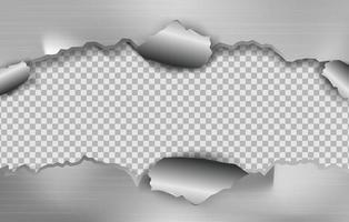 aço rasgado com fundo transparente. ilustração em vetor eps10.