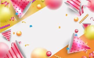 feliz aniversário dia plano de fundo ou banner. ilustração em vetor eps10.