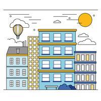 Vector cidade paisagem ilustração
