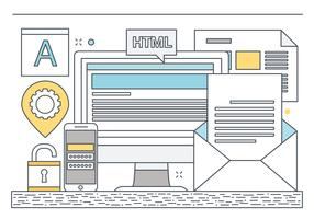 Vector Design plano Web Elements