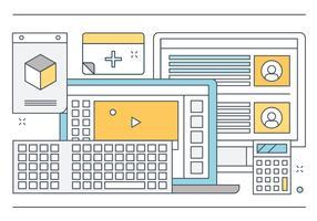 Vector Design plano elementos e acessórios