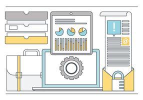 Vector linha arte Design plano elementos e acessórios