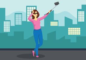 Ilustração vetorial Selfie vetor