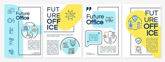 futuro modelo de folheto de escritório vetor