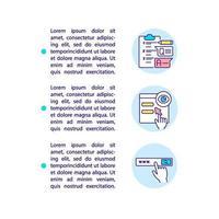 parar ameaças competitivas ícones de linha de conceito com texto vetor