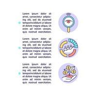 ícones de linha de conceito de vantagens de conteúdo inteligente com texto vetor