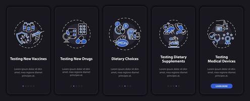 tipos de pesquisa na tela da página do aplicativo móvel com conceitos vetor
