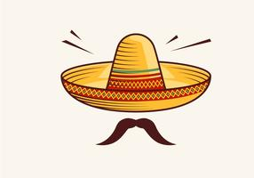 Ilustração vetorial de sombrero vetor