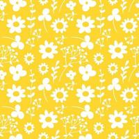 padrão sem emenda com flores silvestres vetor