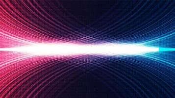 fundo de tecnologia de luz digital, design de conceito de onda sonora e digital de alta tecnologia, espaço livre para texto vetor