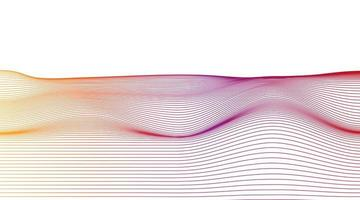 linha dinâmica colorida em fundo branco, design de conceito de onda sonora digital vetor