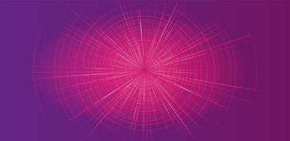 movimento de velocidade hiperespaço futurista rosa sobre fundo de tecnologia vetor