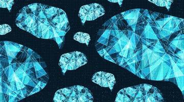 tecnologia do cérebro cibernético no fundo do circuito do microchip vetor