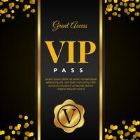 Design de cartão VIP Pass vetor