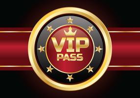 Cartão VIP Pass vetor