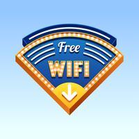 Sinal Do Vintage Vetor De Wi-Fi Gratuito