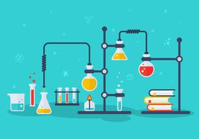 Ilustração em vetor de laboratório de química