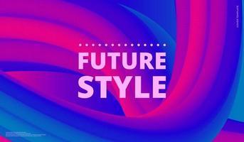 forma fluida. fundo líquido. capa abstrata na moda. cartaz de design futurista. ilustração vetorial vetor