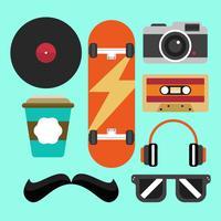 Vetor de elemento hipster