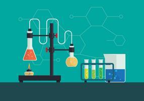 Ilustração vetorial de química vetor