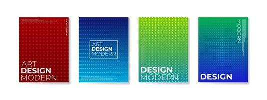 conjunto de cartaz com fundo de composição de formas gradientes para folheto corporativo e banner vetor