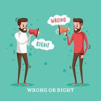 Certo e errado vetor