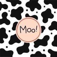 Fundo de textura de pele de vaca vetor