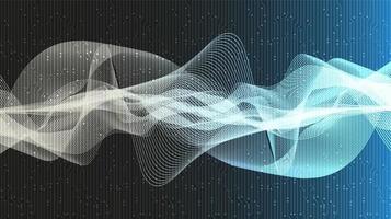 fundo de onda sonora digital do equalizador vetor