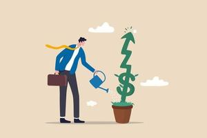 crescimento do investimento ou crescimento do negócio, lucro no mercado de ações ou conceito de crescimento de ganhos vetor