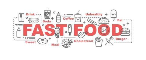 banner de vetor de fast food