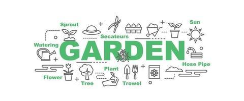 banner de vetor de jardim
