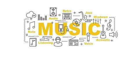 banner de vetor de música