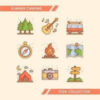 experiência única e confortável de acampar vetor