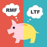 ltf e rmf, conceito financeiro de vetor de fundos de longo prazo, estilo simples