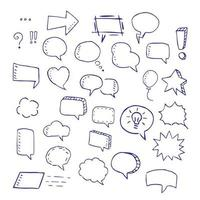 doodle de balões de fala vetor