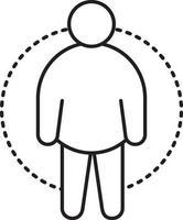 ícone de linha para fatman vetor