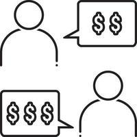 ícone de linha para negociação vetor