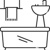 ícone de linha para aparelhos de banheiro vetor