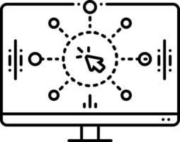 ícone de linha para design de interação vetor