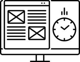 ícone de linha para gerenciamento de projeto vetor