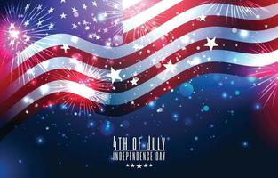 4 de julho, dia da independência, conceito da bandeira dos EUA vetor