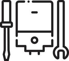 ícone de linha para serviço de gêiser vetor