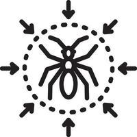 ícone de linha para controle de pragas vetor
