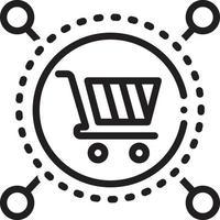 ícone de linha para serviço de mercado vetor