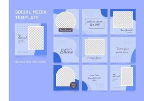 modelo de feed de mulheres de moda para quebra-cabeças de mídia social vetor
