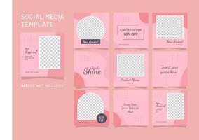 modelo de mídia social moda feminina feed quebra-cabeça vetor