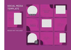 modelo de postagem moda feminina quebra-cabeça mídia social vetor
