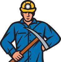 mineiro de carvão com picareta vetor